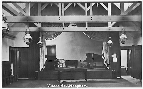 The main hall stage, this image can be dated to circa 1927.